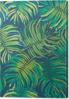Tuval Baskı Palm Tropic Dikişsiz Vektör Desen bırakır