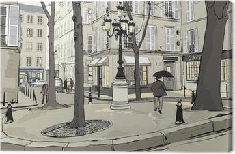Tuval Baskı Paris'te Furstemberg kare