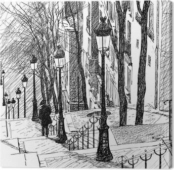 Tuval Baskı Paris'teki Montmartre