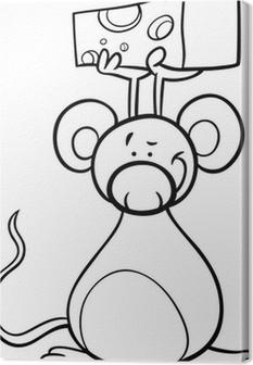 Sıçan Karikatür Boyama Tuval Baskı Pixers Haydi Dünyanızı