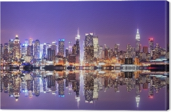 Tuval Baskı Reflections Manhattan Skyline