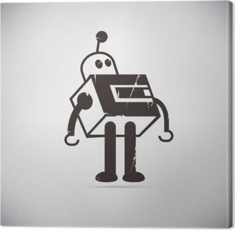 Tuval Baskı Retro robot karikatür