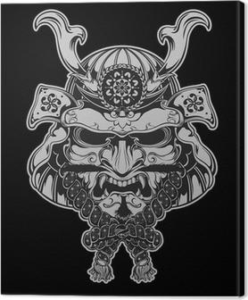 Tuval Baskı Samuray Maskesi