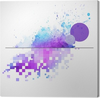 Tuval Baskı Suluboya leke ile modern vector background
