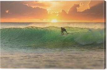 Tuval Baskı Sunrise Surfer Sörf