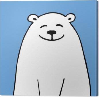 Tuval Baskı Tasarım için beyaz ayı, kroki
