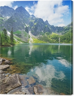 Tuval Baskı Tatra Dağları, Polonya Deniz göl Göz
