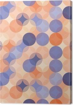 Tuval Baskı Vektör Modern kesintisiz renkli geometri desen çevreler, mavi renk turuncu soyut geometrik arka plan, duvar kağıdı baskı, retro doku, yenilikçi moda tasarımı, __