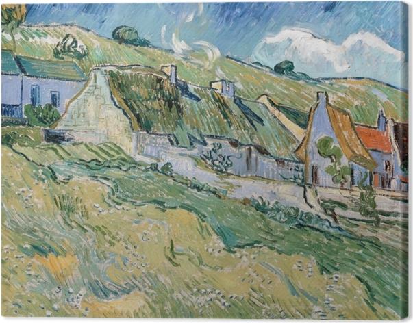 Tuval Baskı Vincent van Gogh - Auvers-sur-Oise Cottages at - Reproductions