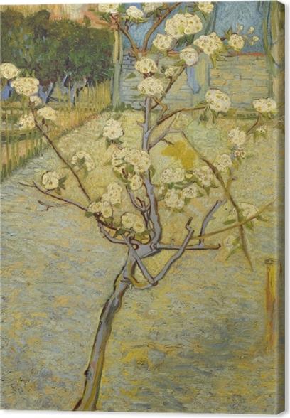 Tuval Baskı Vincent van Gogh - Çiçeklenme şeftali ağacı - Reproductions