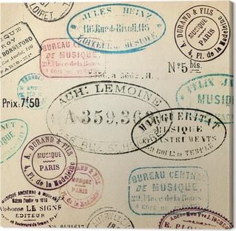 Tuval Baskı Vintage pulları arka plan