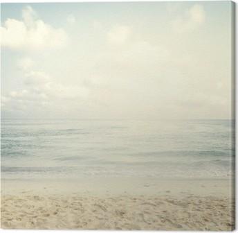 Tuval Baskı Yaz aylarında Vintage tropikal plaj