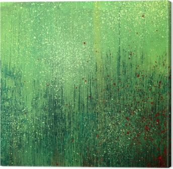 Tuval Baskı Yeşil akrilik boya arka plan doku kağıt