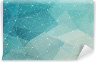 Tvättbar Fototapet Abstrakt polygonal bakgrund, vektor
