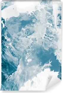 Tvättbar Fototapet Blå marmor textur
