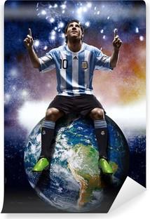 Tvättbar Fototapet Leo Messi