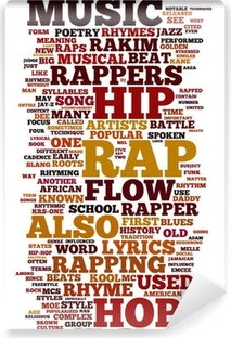 Tvättbar Fototapet Rap och Hip Hop Music