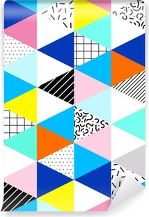 Tvättbar Fototapet Seamless geometriskt mönster