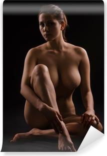 Tvättbar Fototapet Siffra på en naken kvinna
