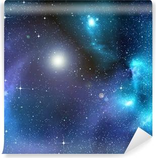 Tvättbar Fototapet Stjärnklara bakgrund av djupa yttre rymden
