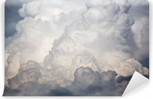 Tvättbar Fototapet Stora moln storm