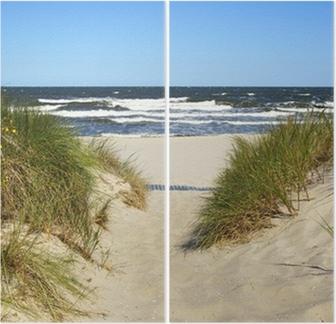 Tweeluik De weg naar het strand
