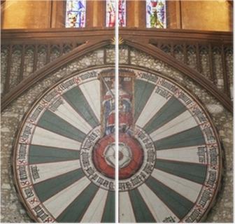 Koning Arthur Ronde Tafel.Koning Arthur Ronde Tafel Op Tempel Muur In Winchester Engeland U