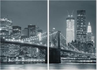 Tweeluik New York Brooklyn Bridge