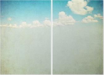 Tweeluik Retro beeld van bewolkte hemel