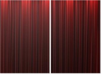 Fotobehang Vector illustratie van een rode theater gordijn • Pixers ...