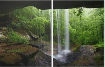 Tweeluik Waterval in het noorden van Alabama