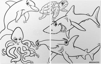 Kleurplaten Dieren In De Zee.Zee Leven Vissen En Andere Dieren Kleurplaat