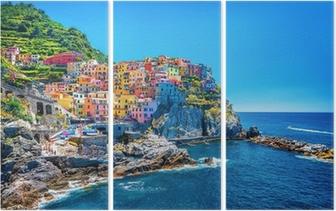 Üç Parçalı Güzel renkli Cityscape