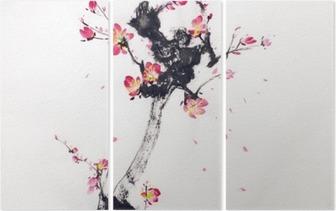 Üç Parçalı Kiraz çiçekleri şube