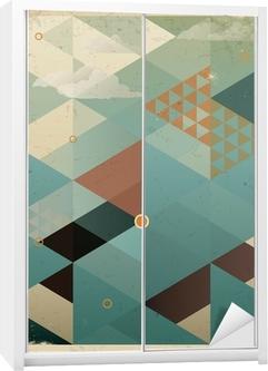 Abstrakti retro geometrinen tausta pilviä Vaatekaappitarra
