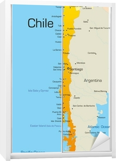 Abstrakti Vektori Varikartta Chile Maa Tapetti Pixers Elamme