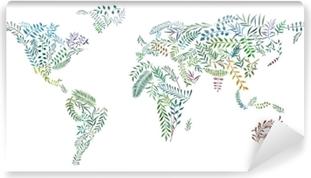 2d Kasin Piirretty Kuva Maailman Kartta Maanosat Vesivareista