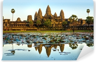 Angkor wat, siem reap, kambodža. Vinyyli valokuvatapetti