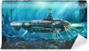 Fantastinen sukellusvene Vinyyli valokuvatapetti