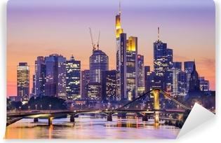 Frankfurt, saksa city skyline Vinyyli valokuvatapetti