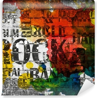 Grunge rock -musiikki juliste Vinyyli valokuvatapetti