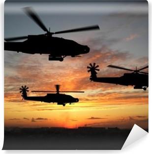 Helikopterit Vinyyli valokuvatapetti