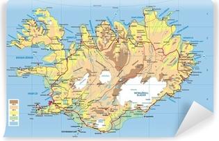 Islanti Kartta Juliste Pixers Elamme Muutoksille