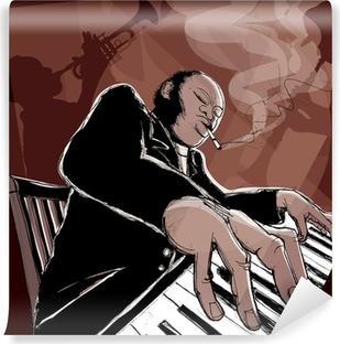 Jazz bändi Vinyyli valokuvatapetti