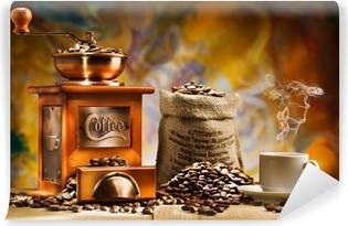 Kahvia asetelmille Vinyyli valokuvatapetti