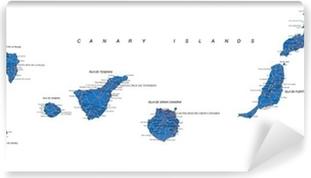 Kanariansaarten Kartta Kangaskuva Pixers Elamme Muutoksille