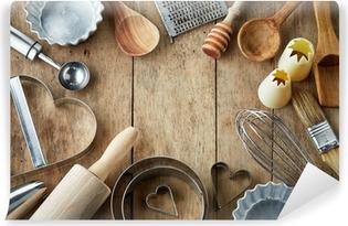 Keittiökalusteita Vinyyli valokuvatapetti