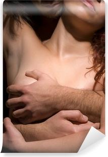 Kiusaus nainen ja mies Vinyyli valokuvatapetti