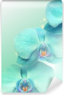 Kukka orkidea tausta Vinyyli Valokuvatapetti