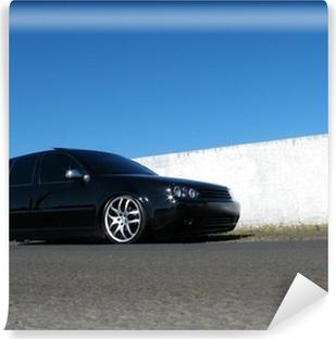 Musta auto Vinyyli valokuvatapetti